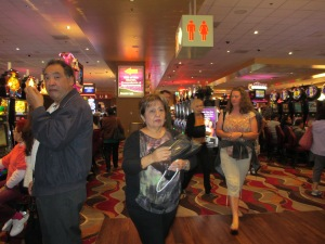 People at Valley View Casino on  Sunday.