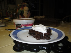 Vegan Hot Fudge Cake with So Delicious CocoWhip!